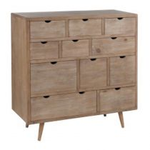 "Commode 11 Tiroirs ""Stephen"" 96cm Naturel"