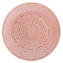 "Lot de 6 Assiettes Plates ""Mandala"" 27cm Rouge"