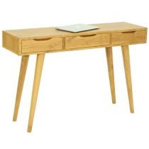 "Console 3 Tiroirs ""Fiftees"" 120cm Naturel"