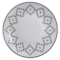 "Lot de 6 Assiettes Plates ""Outland"" 27cm Blanc"