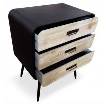 "Commode 3 Tiroirs ""Ricardo"" 84cm Naturel"