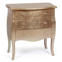 "Commode 3 Tiroirs ""Lipizzan"" 76cm Or Rose"