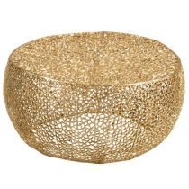 """Table d'Appoint Design """"Corail"""" 81cm Or"""