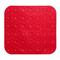 "Fond de Douche PVC ""Diamond"" 55x55cm Rouge"