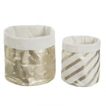 "Lot de 2 Paniers de Rangement ""Foil"" 25cm Or"