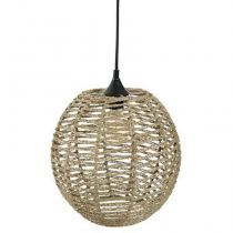 "Lampe Suspension Vintage ""Boule"" 33cm Naturel"
