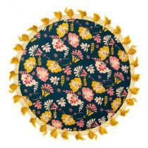 "Coussin de Sol ""Flower Power"" 45cm Multicolore"