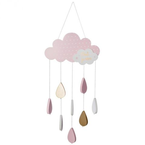 "Suspension Enfant ""Nuage"" 57cm Rose"