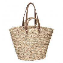 "Panier de Shopping en Osier ""4 Anses"" 36cm Naturel"