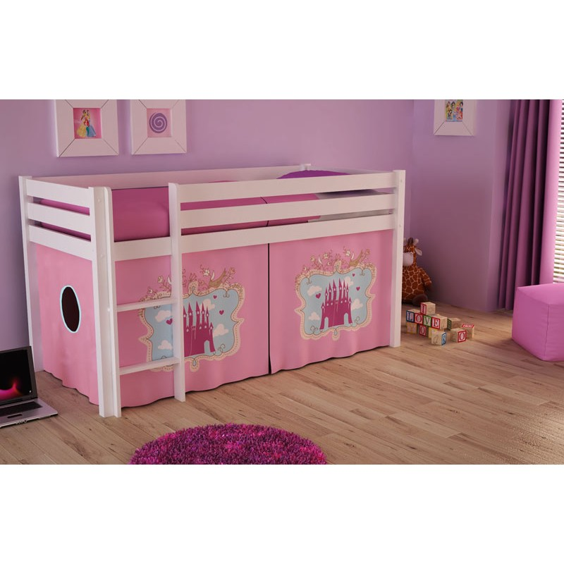 lit enfant pino ch teau blanc. Black Bedroom Furniture Sets. Home Design Ideas