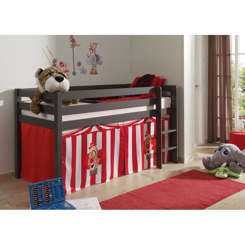 lit enfant sans toboggan pino cirque taupe. Black Bedroom Furniture Sets. Home Design Ideas
