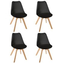 "Lot de 4 Chaises Design ""Baya"" 81cm Noir"