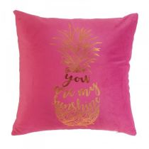"Coussin Déhoussable ""My Sunshine"" 45x45cm Rose"
