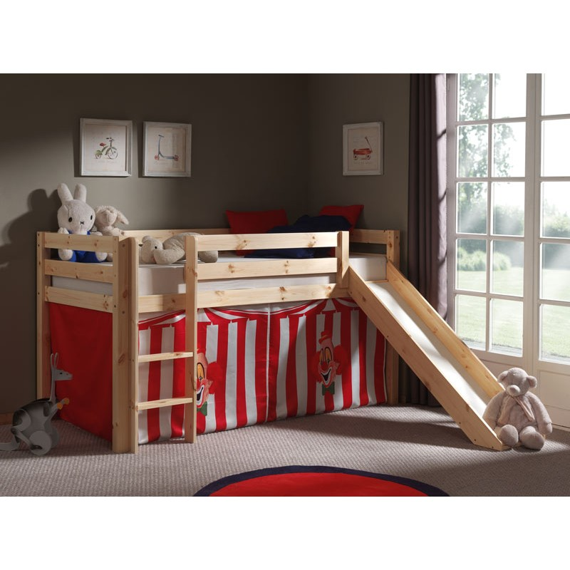 lit enfant avec toboggan pino cirque naturel. Black Bedroom Furniture Sets. Home Design Ideas