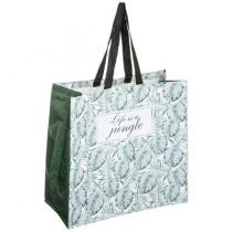 "Sac de Shopping Imperméable ""Jungle"" 45cm Menthe"