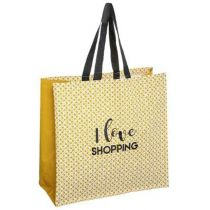 "Sac de Shopping Imperméable ""Love"" 45cm Jaune"