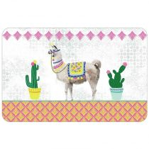 "Set de Table ""Fun Lama"" 28x44cm Multicolore"