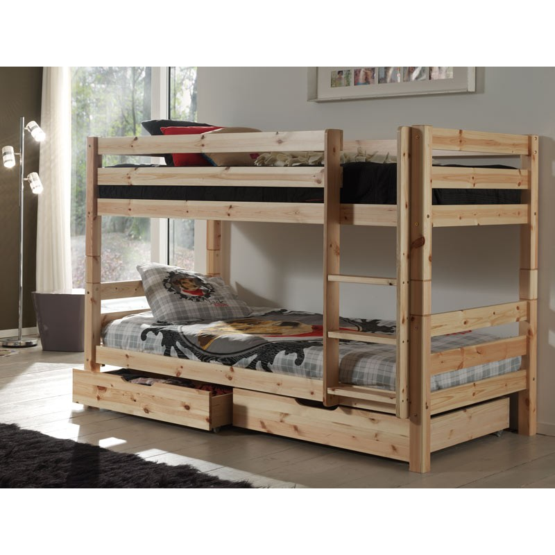lit superpos 2 tiroirs de lit enfant pino naturel. Black Bedroom Furniture Sets. Home Design Ideas