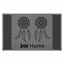 "Tapis Déco Rectangulaire ""Dream Home"" 50x80cm Gris"