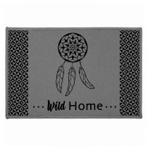 "Tapis d'Entrée Rectangulaire ""Dream Home"" 40x60cm Gris"