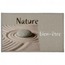"Tapis de Couloir Zen ""Ondulation"" 57x115cm Naturel"