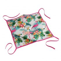 "Galette De Chaise ""Flamingo Beach"" 36x36cm Multicolore"