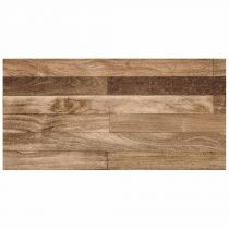 "Tapis Rectangle en Vinyle ""Bosco"" 50x100cm Naturel"