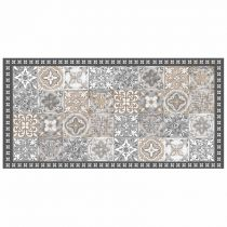 "Tapis Rectangle en Vinyle ""Alicante"" 50x100cm Naturel"