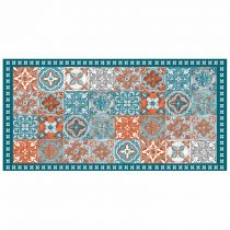 "Tapis Rectangle en Vinyle ""Alicante"" 50x100cm Orange"