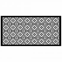 "Tapis Rectangle en Vinyle ""Vittoria"" 50x100cm Noir"