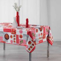 "Nappe Rectangulaire ""Tomato Party"" 150x240cm Rouge"