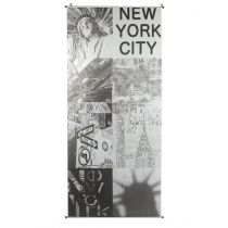 "Toile à Suspendre 70x170cm ""New York City"" Gris"