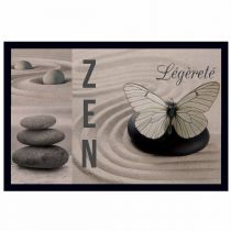 "Tapis d'Entrée Rectangle ""Zen léger"" 40x60cm Beige"