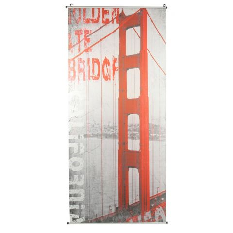 "Toile à Suspendre 70x170cm ""San Francisco"" Rouge"