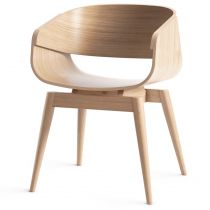"Chaise Design en Bois ""Almost"" 76cm Naturel"