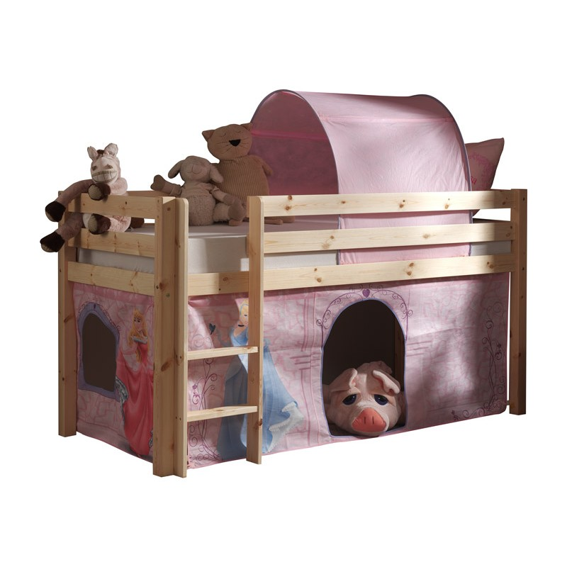 lit enfant sans toboggan pino disney princesse naturel. Black Bedroom Furniture Sets. Home Design Ideas