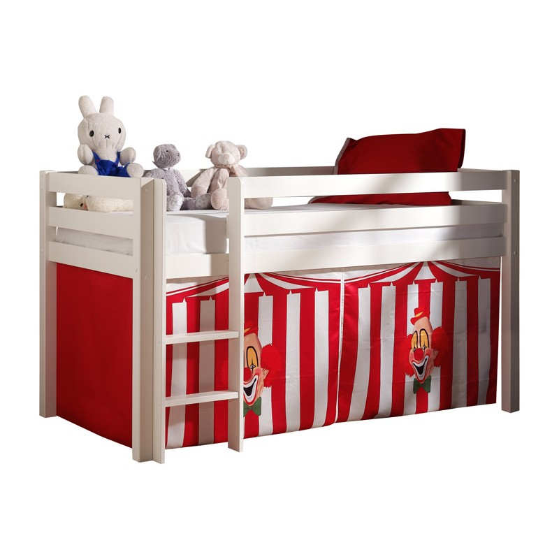 lit enfant sans toboggan pino cirque blanc. Black Bedroom Furniture Sets. Home Design Ideas