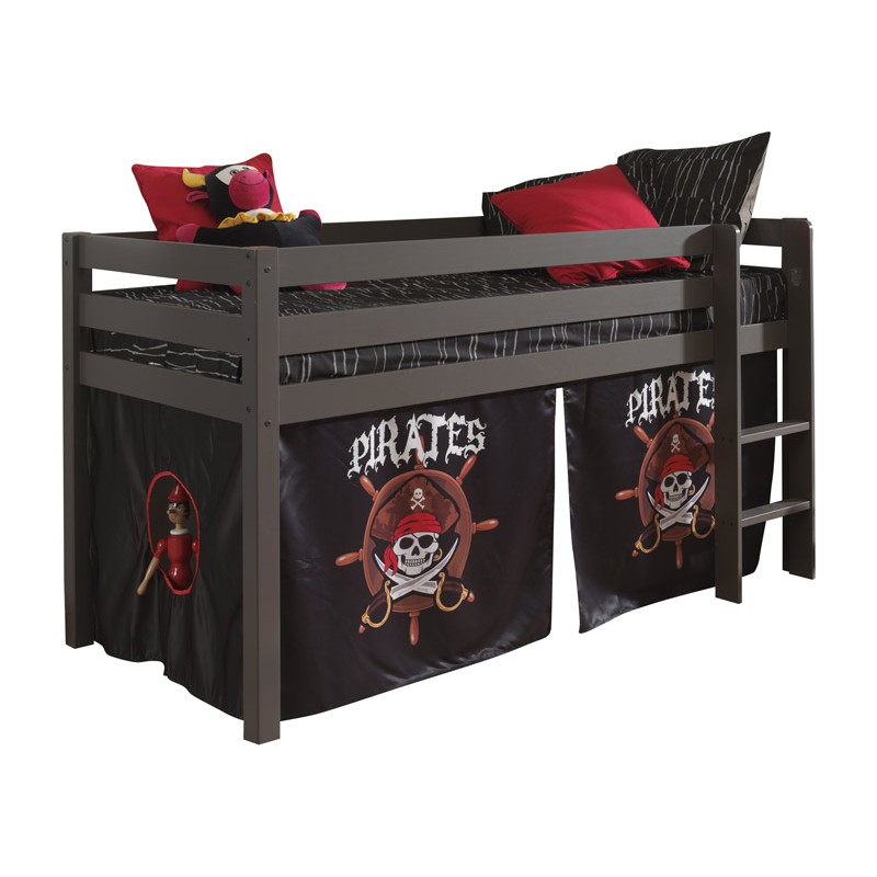 lit enfant sans toboggan pino pirates ii taupe. Black Bedroom Furniture Sets. Home Design Ideas