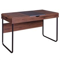 "Bureau Tiroirs & Abattant ""Brooklyn"" 118cm Naturel"