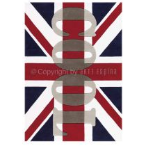 "Tapis Arte Espina ""Word UP London"" Rouge"