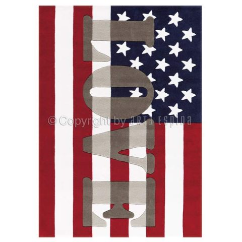 "Tapis Arte Espina ""Word UP USA"" Rouge"