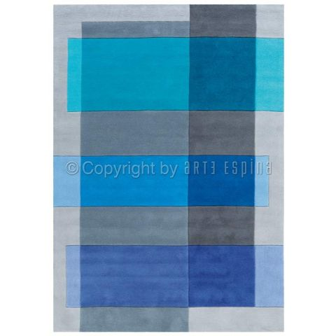 "Tapis Arte Espina ""Intersection"" Bleu"