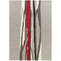 """Tapis Arte Espina """"Red Trace"""" Gris"""