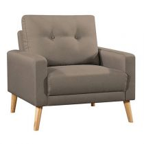 "Fauteuil Scandinave Design ""North"" 85cm Taupe"