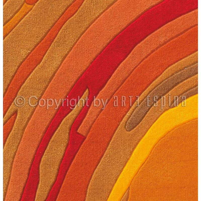 tapis arte espina action painting orange. Black Bedroom Furniture Sets. Home Design Ideas