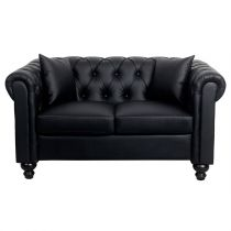 "Canapé 2 Places Chesterfield ""Capitol"" 155cm Noir"