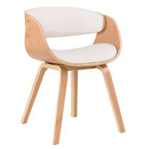 "Chaise de Bureau Scandinave ""Swed"" 72cm Naturel"