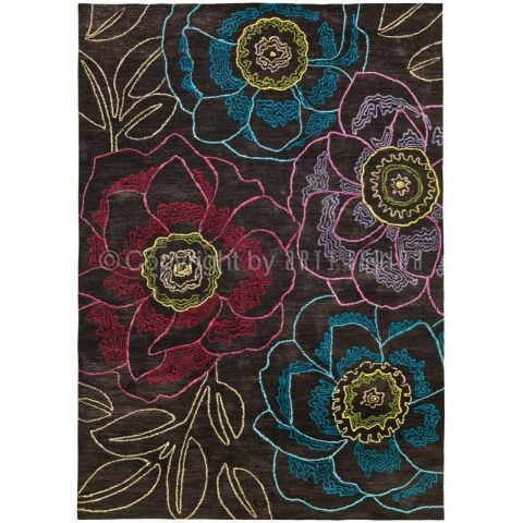 "Tapis Arte Espina ""Tropical Passion"" Marron"