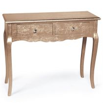 "Console Baroque 2 Tiroirs ""Odalys"" 90cm Or Rose"