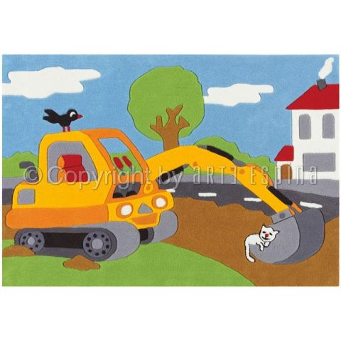 "Tapis Arte Espina ""Kids Construction"" Multicolore"